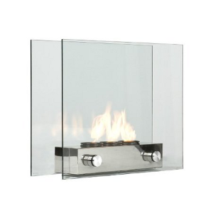 Southern Enterprises Loft Portable Indoor / Outdoor Fireplace