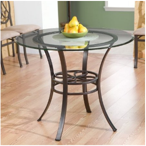 Southern Enterprises Lucianna Dining Table withGlass Top