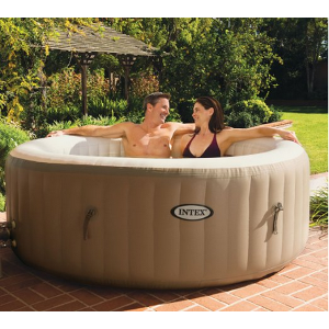 Intex Purespa Bubble Therapy Inflatable Portable Hot Tub Spa